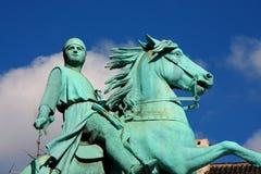 Hojbro Plads fyrkant med den rid- statyn av biskopen Absalon Royaltyfria Bilder