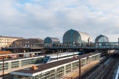Hoje Taastrup train station. Hoje Taastrup Denmark - February 6. 2018: Hoje Taastrup train station Stock Photos