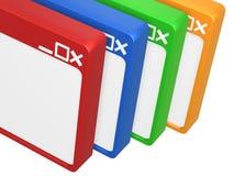 Hojeador en blanco colorido Imágenes de archivo libres de regalías