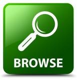 Hojee el botón cuadrado verde libre illustration