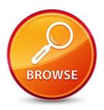 Hojee el botón redondo anaranjado vidrioso especial libre illustration