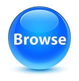 Hojee el botón redondo azul ciánico vidrioso libre illustration