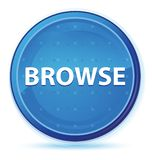 Hojee el botón redondo primero azul de la medianoche stock de ilustración