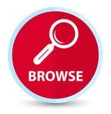 Hojee el botón redondo rojo primero plano stock de ilustración