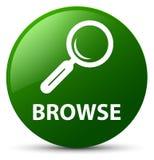 Hojee el botón redondo verde ilustración del vector