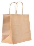 Hojee la bolsa de papel reciclada Fotografía de archivo