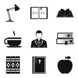 Hojee los iconos fijados, estilo simple stock de ilustración