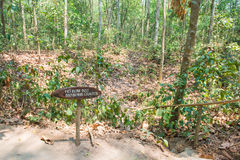 HOJIMIN City, Vietnam Mar 17:: B25 bomb crater from the Vietnam Royalty Free Stock Image