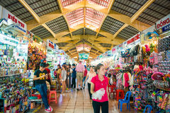 HOJIMIN City, Vietnam Mar 17:: Ben Thann Market in Hojimin City Stock Photos