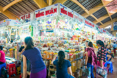 HOJIMIN City, Vietnam Mar 17:: Ben Thann Market in Hojimin City Royalty Free Stock Images