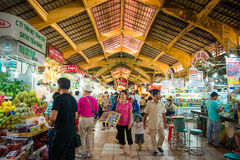 HOJIMIN City, Vietnam Mar 17:: Ben Thann Market in Hojimin City Stock Image