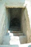 HOJIMIN City, Vietnam Mar 17:: door to the underground from the Stock Photo