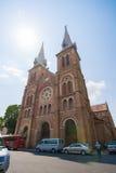HOJIMIN-stad, Vietnam Mars 17:: härlig kyrka, Notre Dame cath Royaltyfria Foton