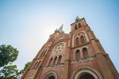 HOJIMIN-stad, Vietnam Mars 17:: härlig kyrka, Notre Dame cath Arkivbild