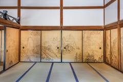 Hojo bij Ryoanji-Tempel in Kyoto stock afbeelding