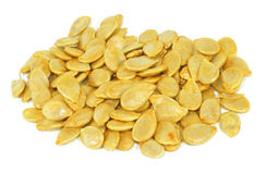Hokaido pumpkin seeds. Hokaido, uhciki kuri pumpkin seeds heap Royalty Free Stock Images
