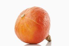 Hokaido pumpkin on white background Royalty Free Stock Photo