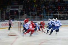 30/01/2015 hokejów dopasowań między hokejowymi klubami Zdjęcia Royalty Free