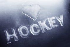 hokej ja kocham Zdjęcia Stock