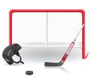 Hokej ustalona wektorowa ilustracja Obraz Royalty Free