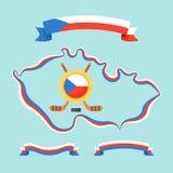 Hokej w republika czech royalty ilustracja