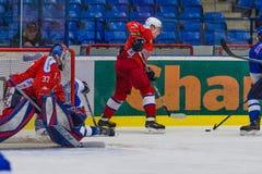 hokeja dopasowanie zdjęcia stock