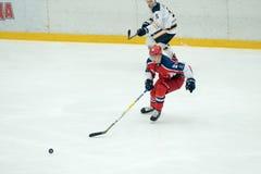 Hokeja dopasowanie w Vityaz lodu pałac Zdjęcie Royalty Free