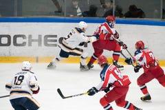 Hokeja dopasowanie w Vityaz lodu pałac Fotografia Royalty Free