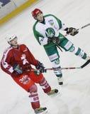 hokeja lodu dopasowanie Zdjęcie Stock