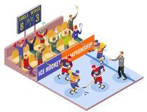 Hokeja Na Lodzie mistrzostwa Isometric sk?ad royalty ilustracja