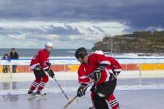 hokeja plażowy lód Zdjęcia Royalty Free