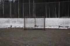 hokeja pusty bramkowy lód Obrazy Stock