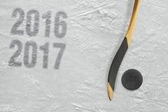 Hokeja 2016-2017 sezon rok Zdjęcia Stock