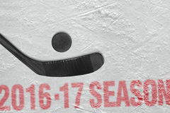 Hokeja 2016-2017 sezon rok Zdjęcia Royalty Free
