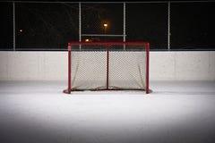 hokeja sieci lodowisko Obraz Royalty Free