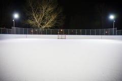 hokeja sieci lodowisko Zdjęcia Royalty Free