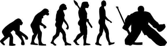 Hokejowa ewolucja royalty ilustracja