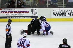 Hokejowa walka obraz stock