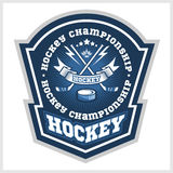 Hokejowe mistrzostwo loga etykietki Wektorowy sport Zdjęcia Royalty Free