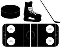 hokejowe ustalone sylwetki Fotografia Stock