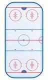 hokejowego lodowiska odgórny widok Zdjęcie Royalty Free