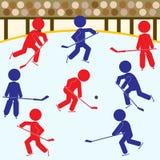 hokejowej ikony ustalone drużyny Obrazy Stock