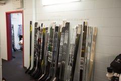 Hokejowi kije zdjęcie stock