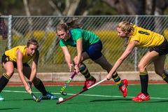 Hokejowi Trzy dziewczyn Balowy wyzwanie Zdjęcia Stock