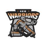 Hokejowy bramkarza logo, emblemat Obraz Stock