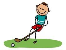 Hokejowy dzieciak Kreskówka dzieciaka wektoru ilustracja Zdjęcie Royalty Free