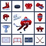 Hokejowy ikona set Obraz Stock