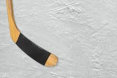 Hokejowy kij na lodzie Obraz Royalty Free