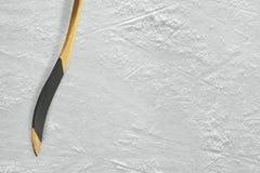 Hokejowy kij na lodzie Obraz Stock