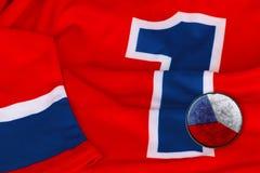 Hokejowy pulower i czecha krążek hokojowy Obraz Royalty Free